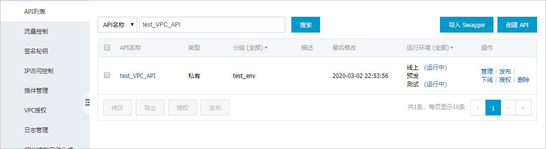 API发布到两个环境