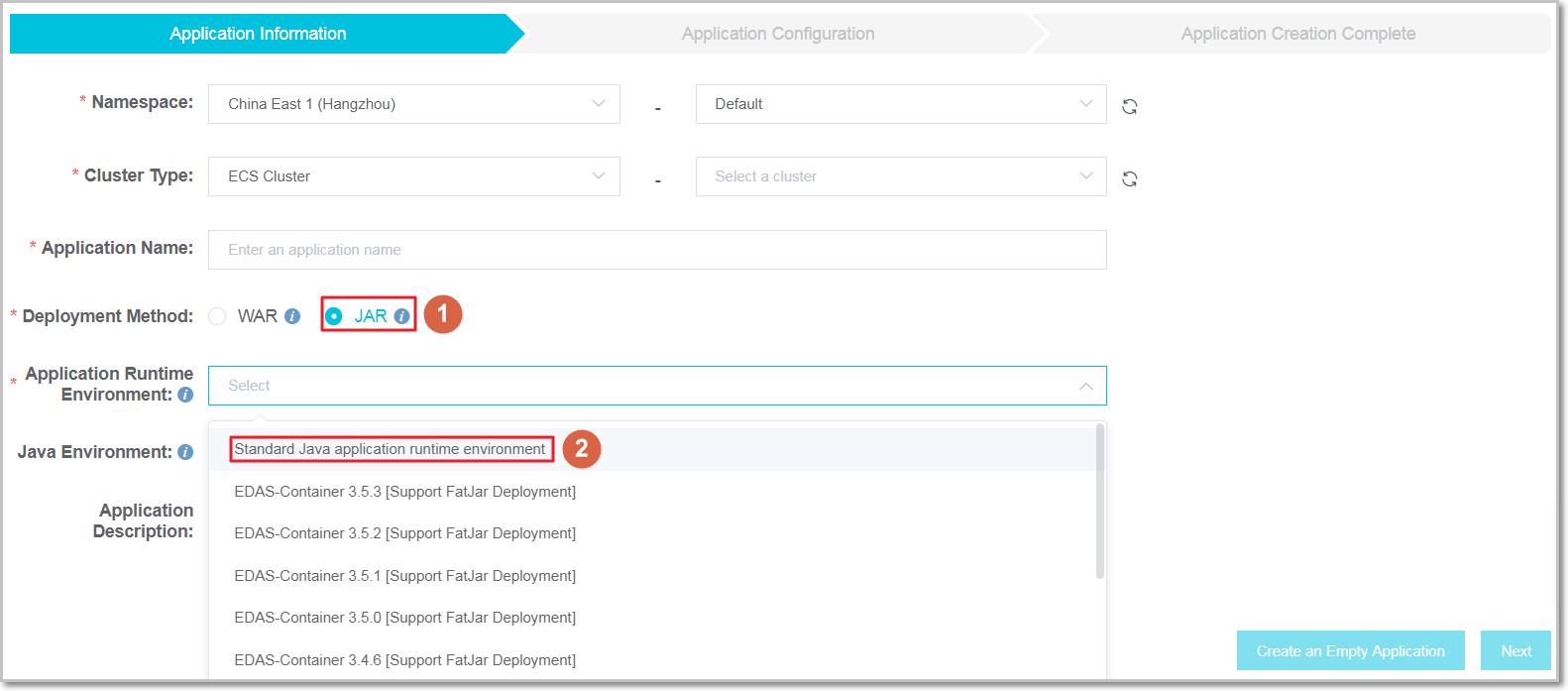 Deploy Spring Cloud Applications to EDAS - Quick Start