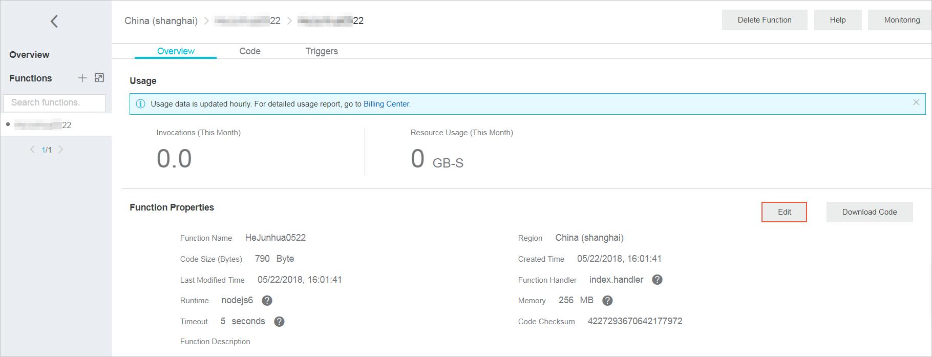 ![Update a function](http://docs-aliyun.cn-hangzhou.oss.aliyun-inc.com/assets/pic/73338/intl_en/1533628761642/EditFunctions.png)