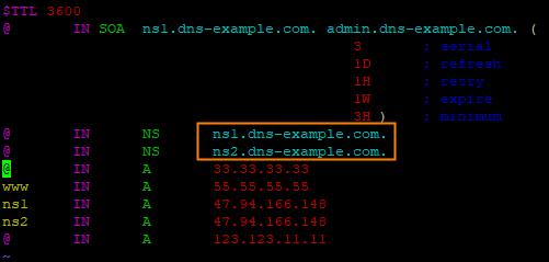 只配置辅助DNS-1