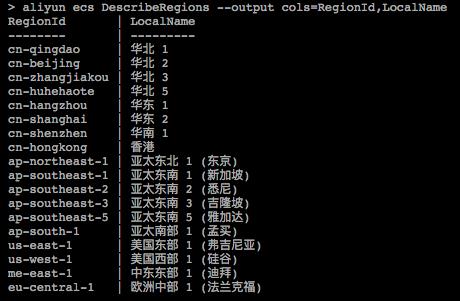 表格格式返回调用示例