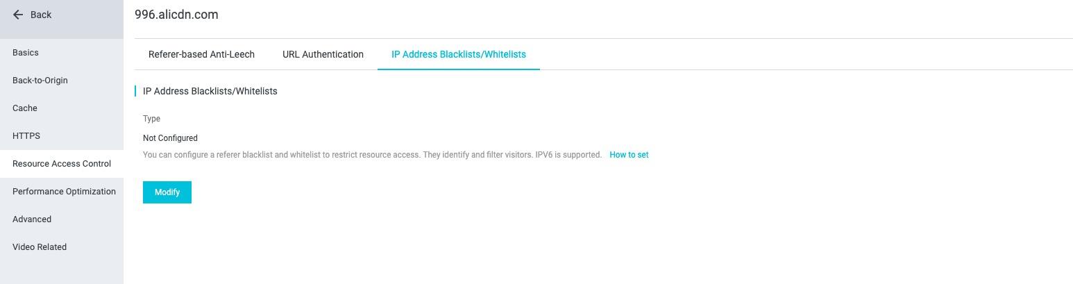 IP blacklist/whitelist