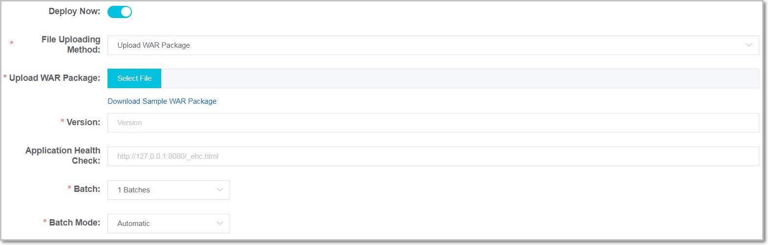 sample web application war download