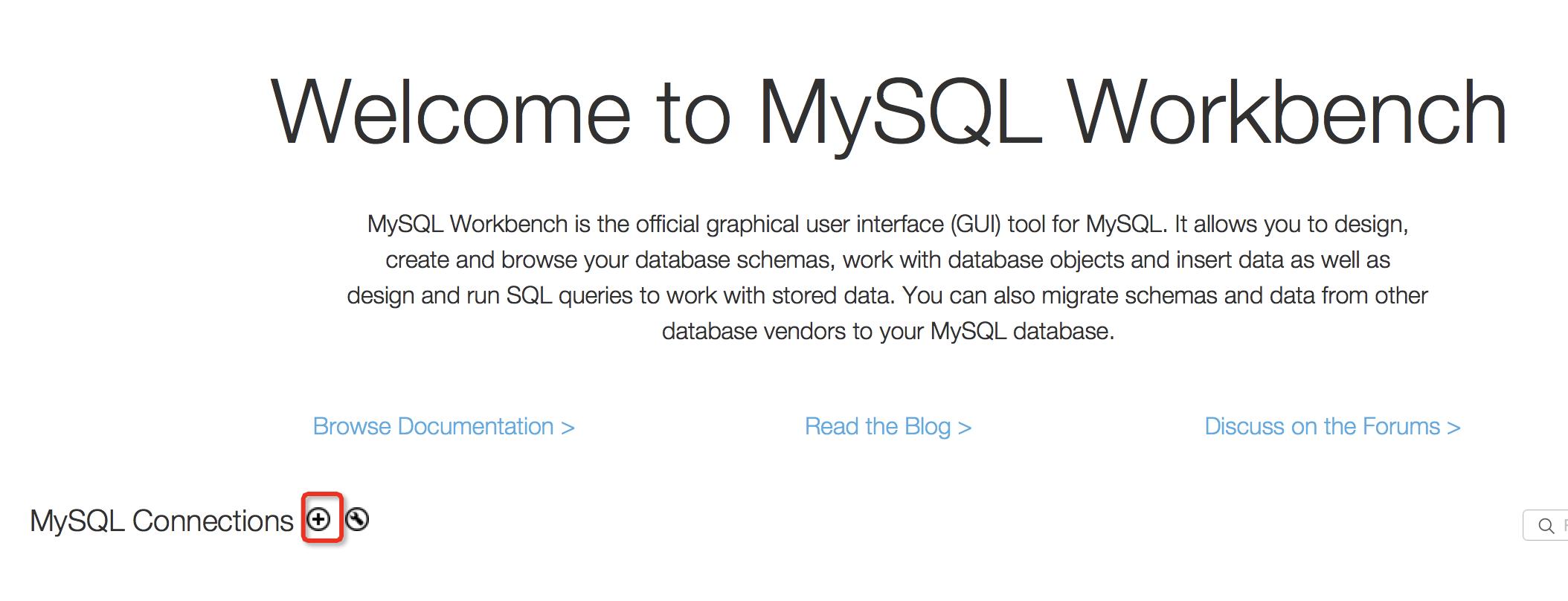 mysql workbench 6.3 create database