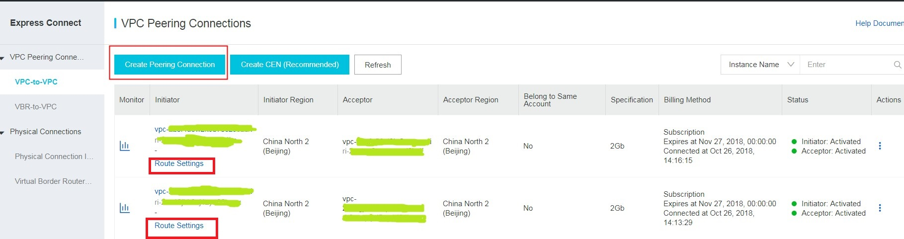 Support for interconnected VPCs - Quick Start| Alibaba Cloud